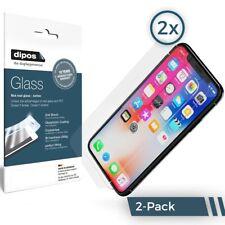 2x Apple iPhone X Protector de Pantalla Vidrio Flexible Mate Proteccion 9H dipos