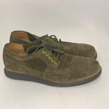 Cole Haan Men's 8M LunarGrand Wingtip Olive Suede Shoes