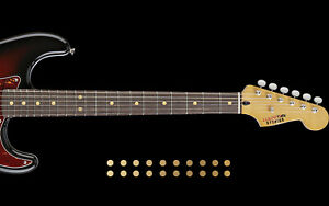 Dot Inlay Fret Markers Stickers GOLD CHROME Decals DOT INLAY SET For Any Guitar