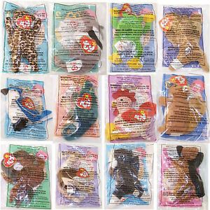 TY McDonald's Teenie Beanies - Complete Bagged Set of 12 (1999) - New in Bags
