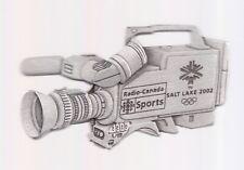 2002 Radio-Canada Sports Salt Lake City Olympic Pin Press Media Camera LE 500