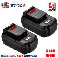 2X FOR Porter Cable PC18B 3.6Ah Ni-MH PCMVC PCXMVC PCC489N Cordless Battery Pack