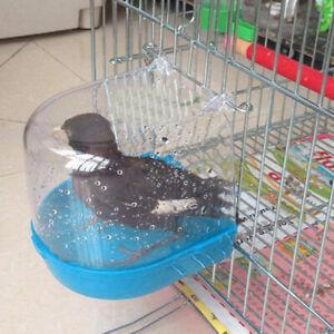 Portable Cage Mounted Small Bird Parrot Budgie Pet Bath Basin Shower Bathtub Kit