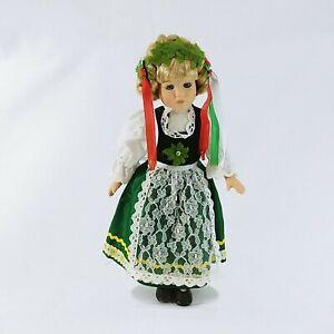 "Doll Female Handmade Swedish Dutch Attire on Metal Stand 13"""