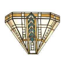 Interiors 1900 LLOYD TIFFANY SINGOLO muro luce con vetro smussato bordatura 64243