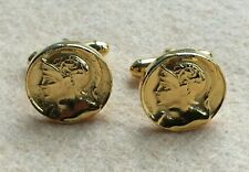 Superb High Quality Gold Plated Roman Emperor  Cufflinks