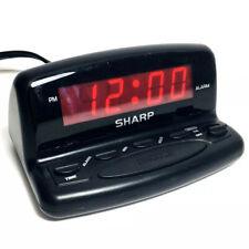 Sharp Alarm Clock Digital 9V Battery Backup Model SPC026A Black Compact Travel
