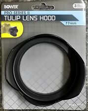 NEW BOWER PRO Camera Tulip Lens Hood 77mm Protect Lens Locking Clamp Thread HT77