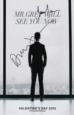 Dakota Johnson & Jamie Dornan Signed Fifty Shades Of Grey 11x17 Movie Poster COA