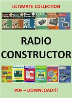 HUGE COLLECTION RADIO CONSTRUCTOR MAGAZINE 1947 - 1981 - PDF DOWNLOAD!!!