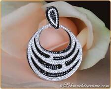 Echte Diamanten-Halsketten & -Anhänger aus Weißgold mit Brilliantschliff für Damen