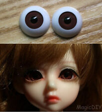 12mm Hand Made BJD Doll Eyes Chocolate Acrylic Half Ball
