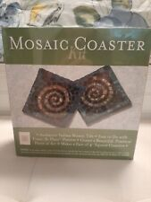 Italian Authentic Mosaic Mercantile 4 Coaster Kit - New.