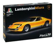 Italeri 510103686 Lamborghini Miura unlackierter Plastik Bausatz 1:24
