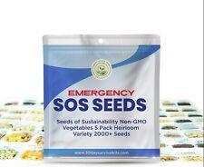 🔥 2000+ Seeds 5 Fruit/Vegetable Variety Pack Kit Emergency Survival Non GMO