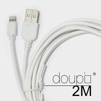 USB Lightning Daten Lade Kabel iPhone 8 7 6 6s Plus 5 5S 5C SE iPad iPod Weiß 2m