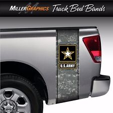 U.S. Army Digital Camo Military Truck Bed Band Stripe Graphic Decal Kit