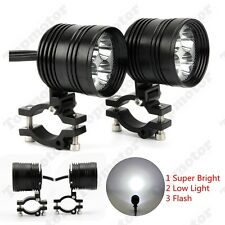 2X CNC Motorcycle CREE 4 LED Driving Front Fog Flash Head Light Lamp For Harley