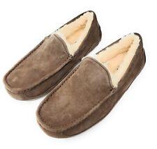 Ugg Australia Men's Ascot Suede Sheepskin Slipper Shoes 5775, Chestnut Brown
