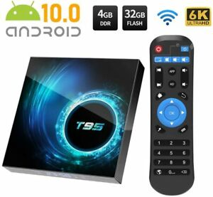 T95 Android 10.0 TV Box 4GB 32GB Quad Core HD 6K HDMI WIFI 5G  Media Player UK