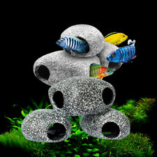 Aquarium Shrimp Stone Fish Tank Cichlid Cave Ornament Breeding Rock Decorations