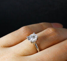 2.00 CT OVAL CUT DIAMOND SOLITAIRE ENGAGEMENT PROMISE RING IN 14K WHITE GOLD FN