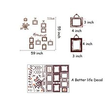 LOT of 10 sheets of Vine of Life Wall Decal Decor for Living room Wall SC17
