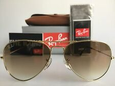AUTHENTIC RAY-BAN AVIATOR RB3025 001/51 58MM BROWN GRADIENT LENS GOLD SUNGLASSES