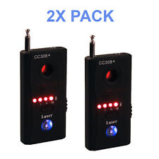 2X PACK CC308+ RF Signal Camera Bug Detector Hidden Camera GPS Laser GSM WiFi