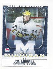 2011-12  Michigan Wolverines Jon Merrill (Vegas Golden Knights)