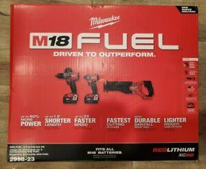 Milwaukee 2998-23 M18 FUEL 18V Brushless Cordless Combo Kit (3-Tool)