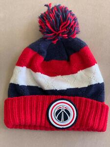 Mitchell & Ness NBA Washington Wizards Beanie Sport Pom Knit Cap Xlnt Free Ship!