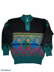 Obermeyer Boys Wool Ski Sweater Sz 12 Southwest/Aztec Design