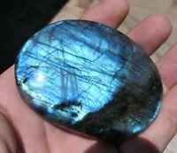 H256 LABRADORITE 109g 72mm Galet pierre Naturelle irisation minéraux  Reiki