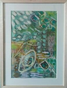 """PAINTING Acrylic on paper """" Go with the Flow """" 41 x 53m (framed)"""