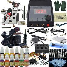Complete Tattoo Kit  Crocodile Shape Machine Tattoo Set 12x10ml Inks+Needle+Grip