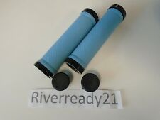 "Light Blue Lock-on Grips for 7/8"" bars Jet-Ski Sea-Doo Bike bmx super-jet Nstock"