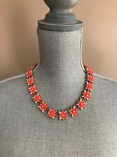 J.Crew Neon floral necklace in Orange New With Tags Retails for $110.00