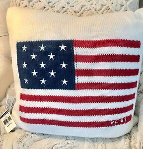 RARE RALPH LAUREN HOME AMERICANA FLAG THROW PILLOW