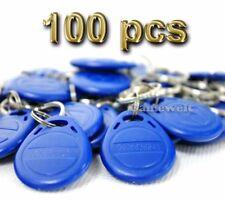 100pcs EM4100 125KHz Proximity RFID ID Identification Card Tag Token Keyfobs