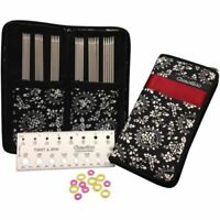 """ChiaoGoo 6"""" Double Point Knitting Needles Stainless Steel Set (2.00-3.25mm)"""