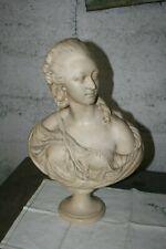 buste platre ancien