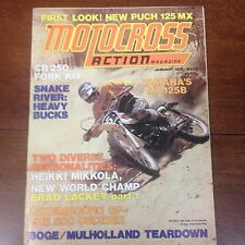 MOTOCROSS ACTION JANUARY 1975 MX125B PUCH 125 GRAND PRIX MIKKOLA VINTAGE YZ VMX