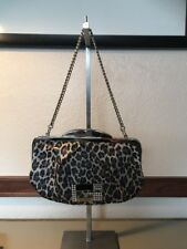 Guess Leopard Change Clutch Gold Bling Formal Purse Handbag