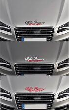 "FOR ALFA ROMEO -  ""ALFA ROMEO SPORT"" - CAR BONNET DECAL STICKER -  300mm long"