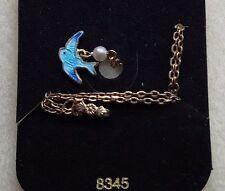 Blue Bird Necklace, Sarah coventry, Little Girl Enamel,bluebird of happiness G66
