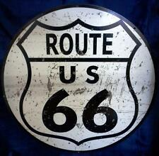 ROUTE 66 ROUND Hanging Tin Sign  HS015