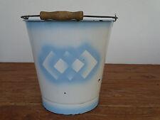 N6358 Emaille Eimer - Shabby Chic - EMAIL - ca. 10 Liter - Spritzdekor