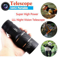 16X52 Portable Super High Power HD OPTICS Light Night Vision Monocular Telescope