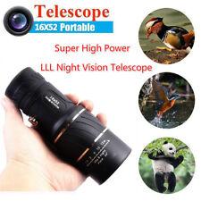 16X52 Portable Super High Power Hd Optics Light Night Vision Monocular Telescope